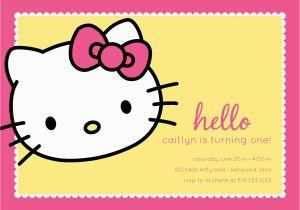 Custom Hello Kitty Birthday Invitations Hello Kitty Birthday Party Invitation Custom by