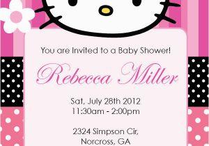 Custom Hello Kitty Birthday Invitations Hello Kitty Girl Birthday Party or Baby Shower Custom