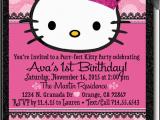 Custom Hello Kitty Birthday Invitations Hello Kitty Princess Birthday Invitation Hello Kitty