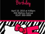 Custom Hello Kitty Birthday Invitations Personalized Hello Kitty Birthday Invitations U Print 24
