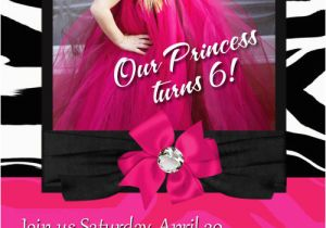 Custom Hello Kitty Birthday Invitations Personalized Hot Pink Hello Kitty Zebra Birthday