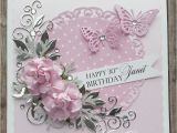 Custom Made Birthday Cards Online Beautiful Handmade Birthday Card In Pink White and Silver