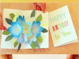 Custom Made Birthday Cards Printable Free Printable Happy Birthday Card with Pop Up Bouquet A