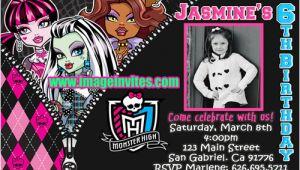 Custom Monster High Birthday Invitations the Gallery for Gt Monster High Blank Invitations