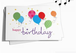 Custom Singing Birthday Cards Electronic Sound File Greeting