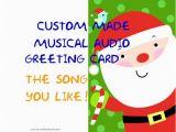 Custom Singing Birthday Cards Items Similar to Singing Christmas Card Custom Made