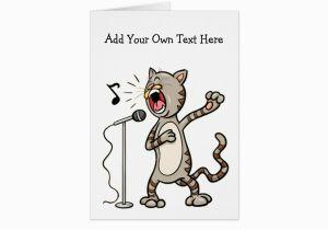 Custom Singing Birthday Cards Personalized Funny Cat Greeting Zazzle