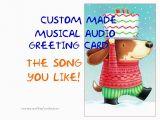 Custom Singing Birthday Cards Singing Card Custom Made Musical Audio Greeting by