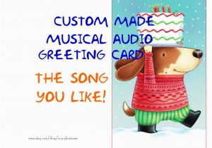 Custom Singing Birthday Cards Card Made Musical Audio Greeting By