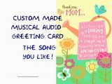 Custom Singing Birthday Cards Singing Card Custom Musical Audio Greeting Card by