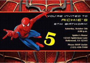 Custom Spiderman Birthday Invitations Party Invites