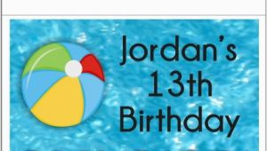 Custom Vip Pass Birthday Invitations Pool Party Vip Pass Invitation with Lanyard Custom Colors