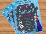 Customised Birthday Invitation Cards Frozen Birthday Invitation Custom Invitation
