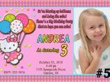 Customised Birthday Invitation Cards Hello Kitty Personalized Birthday Invitations