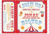 Customizable Birthday Invitations Free Printables Circus Birthday Invitation Printable Custom Invitation with