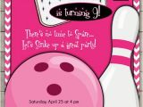 Customizable Birthday Invitations Free Printables Custom Bowling Party Birthday Invitation Printable