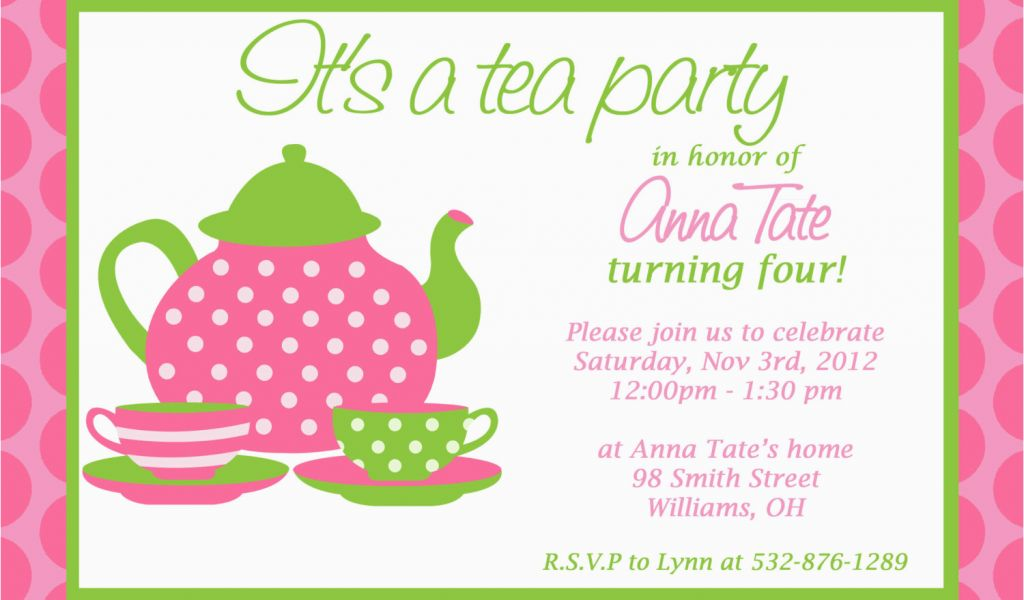 image regarding Free Printable Tea Party Invitations referred to as Customizable Birthday Invites Free of charge Printables Customized