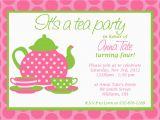 Customizable Birthday Invitations Free Printables Custom Printable Tea Party Invitation