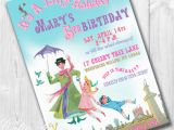 Customizable Birthday Invitations Free Printables Mary Poppins Party Invitations Printable Custom Invitations