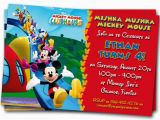 Customizable Birthday Invitations Free Printables Mickey Mouse Clubhouse Invitations Printable Personalized
