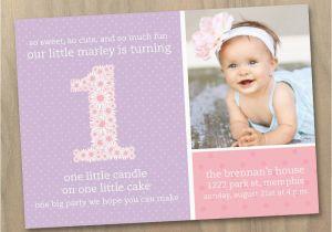 Customized 1st Birthday Invitations Baby Girl First Photo Invitation Pink And BirthdayBuzz