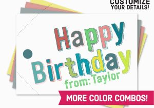 Customized Birthday Cards Free Printable Happy Card Gift Tag BirthdayBuzz