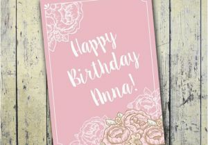Customized Birthday Cards Free Printable Personalized Card 5x7 By