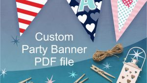 Customized Birthday Decorations Custom Party Banner Personalized Party Decorations for