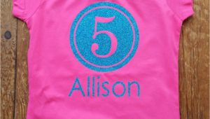 Customized Birthday Girl Shirts Personalized Birthday Shirt for Girls Birthday Girls Shirt