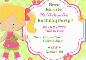 Customized Birthday Invitation Cards Online Free Create Party Invitations Card