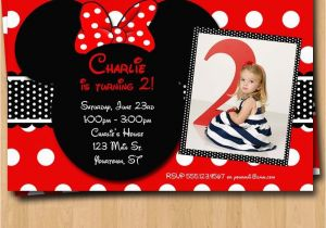 Customized Birthday Invitations Online Free Minnie Mouse Template