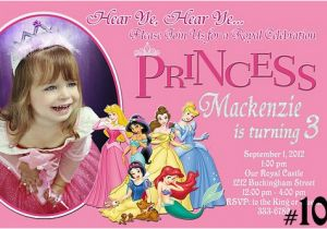 Customized Birthday Invitations Online Free Printable Personalized Disney Princess