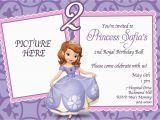 Customized Birthday Invites Custom Photo Invitations sofia the First Birthday Invitation