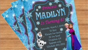 Customized Birthday Invites Frozen Birthday Invitation Custom Invitation