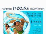 Customized Birthday Invites Moana Birthday Invitation Custom Hawaiian Princess Party