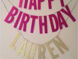 Customized Happy Birthday Banner Happy Birthday Banner Custom Name Sweet by Emeryandelliot