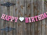 Customized Happy Birthday Banner Happy Birthday Banner Personalized Birthday Banner Pink
