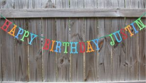 Customized Happy Birthday Banner Personalized Happy Birthday Banner Made to order