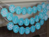 Customized Happy Birthday Banner Personalized Snowflake Happy Birthday Banner by