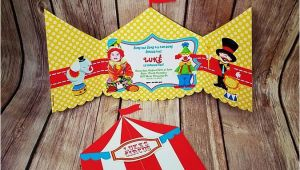 Cut Out Birthday Invitations Circus Tent Invitation Set Of 10 Art Paper Creative Party
