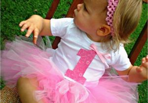 Cute 1st Birthday Girl Outfits Baby Girl First Birthday Tutu Outfit with Headband and Flower