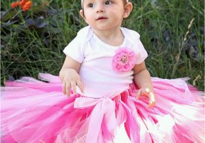 Cute 1st Birthday Girl Outfits First Birthday Outfit Girl Pink and White Lace Tutu
