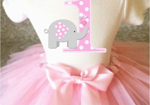 Cute 1st Birthday Girl Outfits Grey Pink Elephant Cute Baby Girl 1st First Birthday Tutu