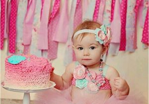 Cute 1st Birthday Girl Outfits Smash Cake Love these Colors for Baby Party Photography