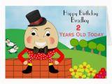 Cute Birthday Cards for Kids Humpty Dumpty Cute Kids Birthday Card Zazzle