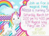 Cute Birthday Invite Sayings Birthday Invites Cute Unicorn Cool Unicorn Birthday