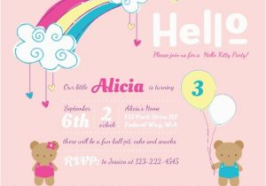 Cute Birthday Invite Sayings Hello Kitty Party Ideas Invitations Wording Crafts