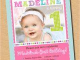 Cute First Birthday Invitation Wording Cute as A button First Birthday Party Invitation