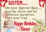 Cute Happy Birthday Quotes for Sister Happy Birthday Sister Quotes for Facebook Quotesgram