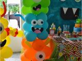 Cute Monster Birthday Party Decorations Awesome Balloon Decorations 2017